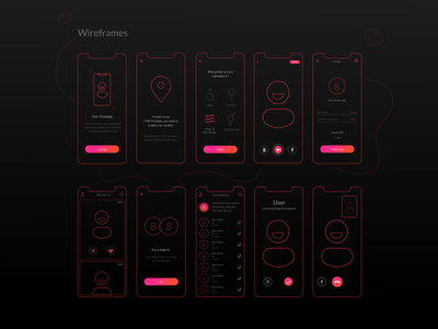 Wireframes appconcept dating app concept application logic ux wireframe design wireframing wireframes
