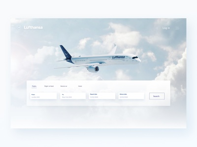 Redesign concept web ux  ui pure white airline website design airplane concept design redesign web design website