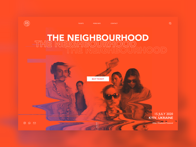 The Neighbourhood neighbourhood the neighbourhood people typogaphy web designer ui design inspiration red color red music concert web concert web  design ui design web design