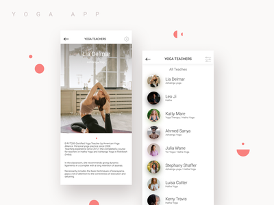 Yoga Studio App vol.2 clear design inspiration app design application mobile app yoga studio yoga app ux design ui design ui ux