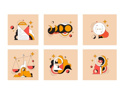 Icon set debutshot debut app design icon design univers web flat illustration illustraion icons icon set