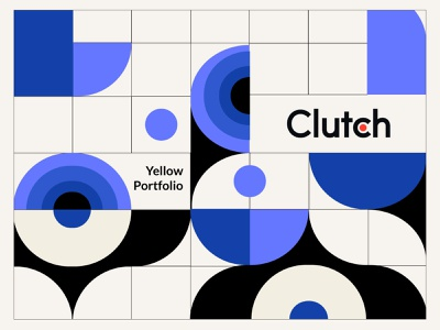 Clutch header design inspiration design geometric illustration geometric vector illustration