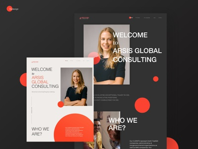 Arsis Global design inspiration vector redesign design concept consulting website webdesign ui typography minimal grid concept design