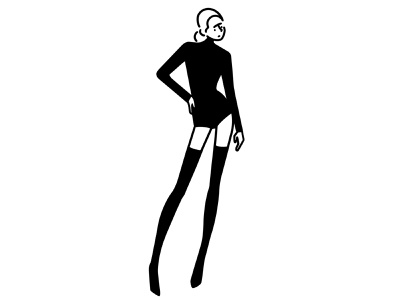over the knee boots girl fashion character design character procreate monochrome minimal line ipad pro illustration comic black and white black apple pencil