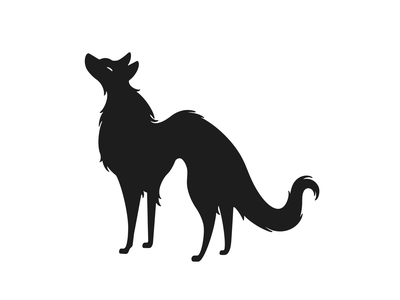 dog inking ink cartoon simple character design character monochrome minimal line illustration comic black and white dog