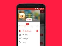 Dinebook Android App Menu