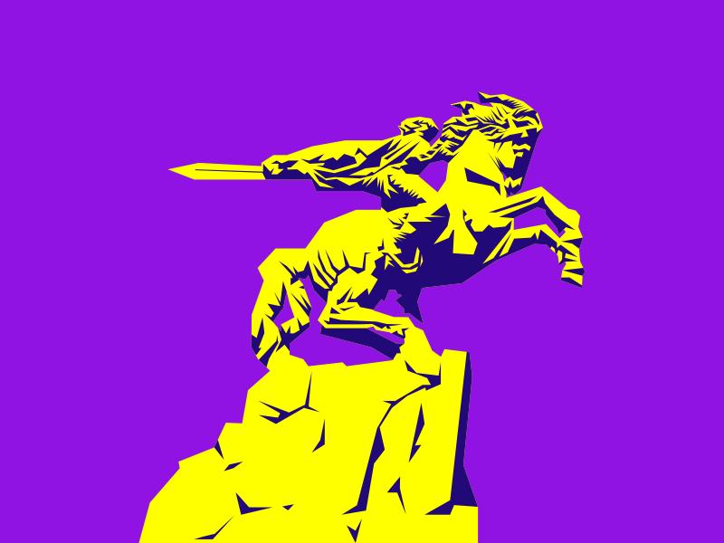 David of Sassoun illustration yerevan epic horse statue armenia david of sasun
