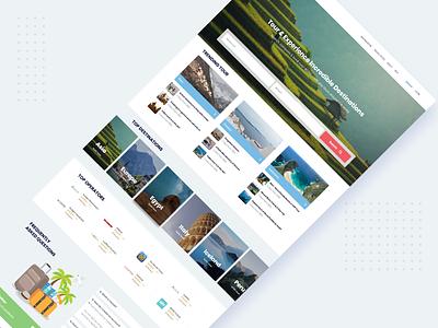 Creative website design for travel Tours website tour travel