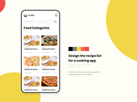 Recipe list for a cooking app