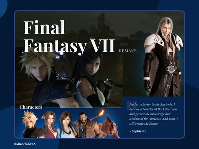Layout for upcoming Game games remake final fantasy ps pc gaming