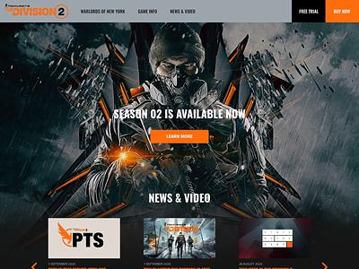 Tom Clancy's The Division 2 - Dark dark theme ubisoft gaming website the division 2