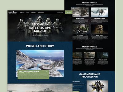Ghost recon Breakpoint - Website Redesign affinitydesigner dark pc ghost recon breakpoint gaming redesign