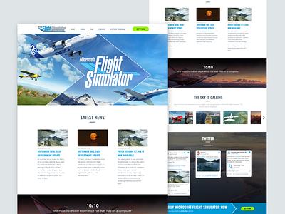 Microsoft Flight Simulator - Remake Light Version lighttheme gaming redesign remake affinitydesigner