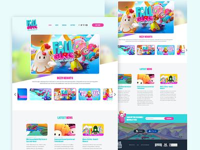 Fallguys - Website Remake colorfull affinitydesigner gaming remake