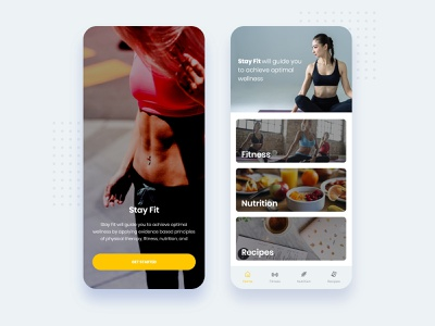 Mobile app related to health and wellness. recipe nutrition health fitness app mobile app