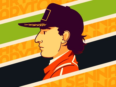 Senna formula 1 character art digitalart character design graphic design editorial art photoshop illustrator illustration