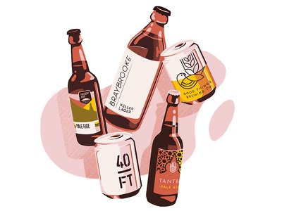 Craft Beers can bottle craft beer beer design photoshop graphic design editorial editorial art illustrator illustration