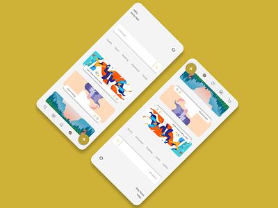 Search screen app design mobile app app social media socialmedia gold mobile design ux design ui