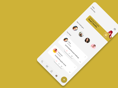 Challenges app social media socialmedia social gold app design illustration app tunisia mobile app mobile design ux ui design