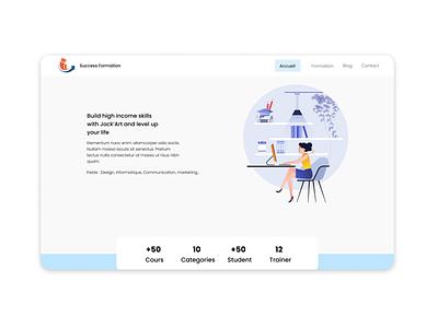 Training institute website training webdesign website design ux ui