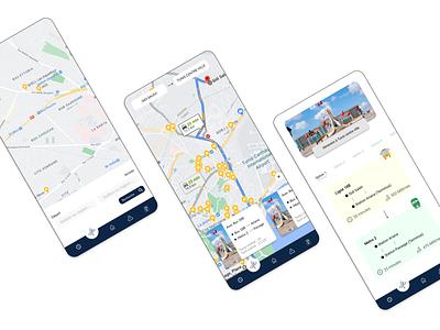 Transit App blue tunisia transport app design mobile app ux mobile design design ui
