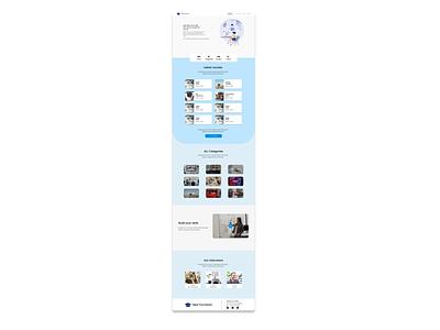 Training center website blue tunisia design ui ux website concept website design training website