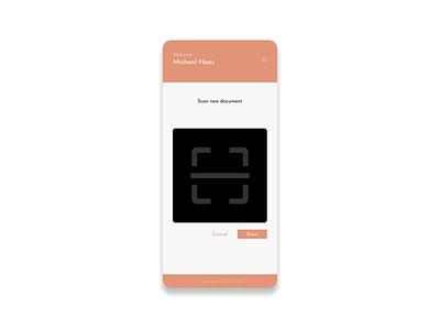 Administrative app scanner screen scan scanner vector illustration mobile app app design mobile design ui ux design