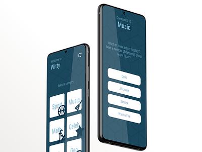 Trivia quiz app design tunisia illustration ux design ui blue mobile app app games trivia quiz quiz app