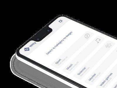 Trivia app - iOS Version trivia app quiz app quiz trivia mobile app mobile design ux design ui