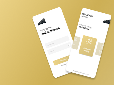 Leasing App ui ux illustration tunisia mobileapp gold credit finance leasing
