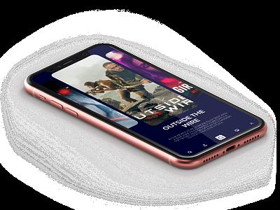 Movies mobile app app design illustration blue tunisia mobile app mobile design design ux ui movies movies app