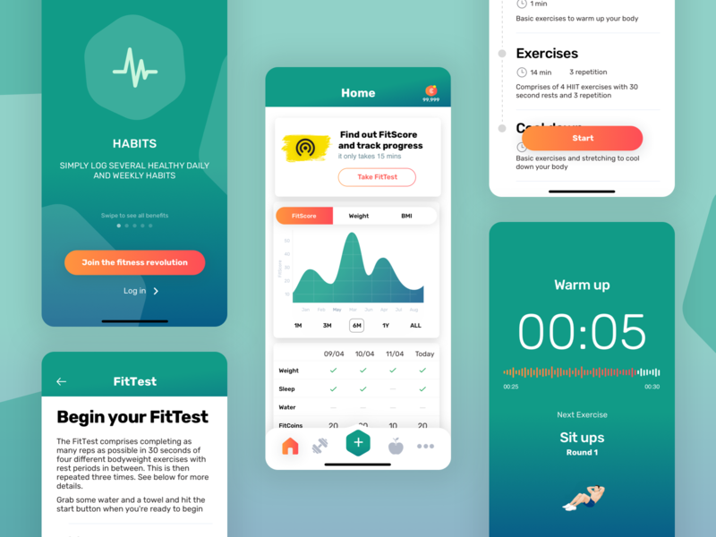 My Fit Score startup mvp health fitness design app mobile ux ui