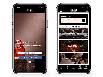 Drink Up London mobile app ux ui