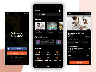 Kiddo branding vector flat mobile design app ux ui