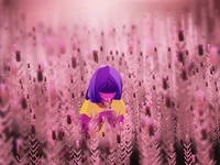Girl and Flowers - 08