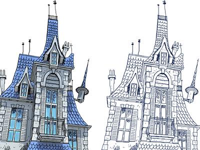 The Uglyz's manor design caricature storyboard visual development illustration bg