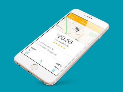Hailo Passenger Receipt product ui receipt hailo app mobile