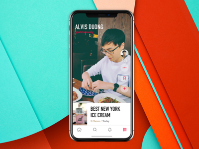 Softchow = No Food Regrets design ux ui profile social iphonex homepage ios app foodie food softchow