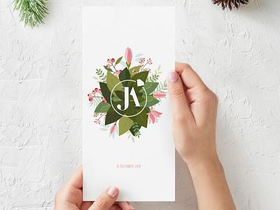 Wedding invitation typography illustration wedding invitation