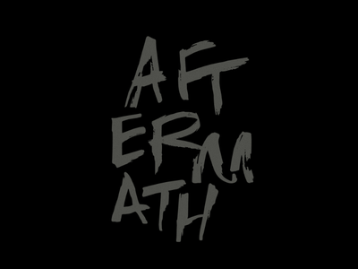 Aftermath - Fever Fever Album Logo hand-drawn hand lettering custom type music album handwriting
