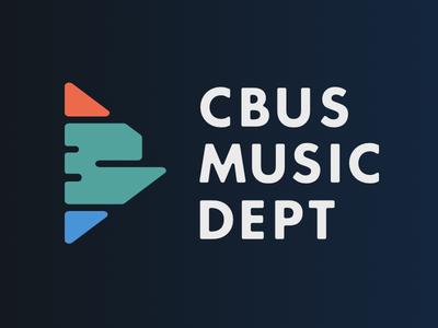 Columbus Music Department city play mark logo music