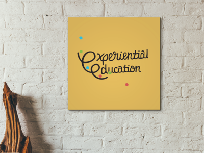 Experiential Education hand lettering custom type type logotype logo