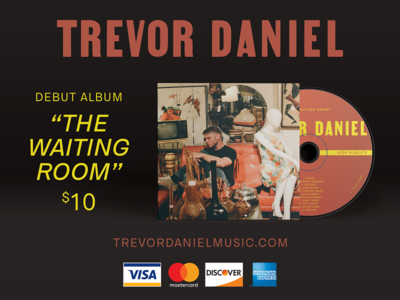 The Waiting Room - Trevor Daniel album cover print marketing layout music