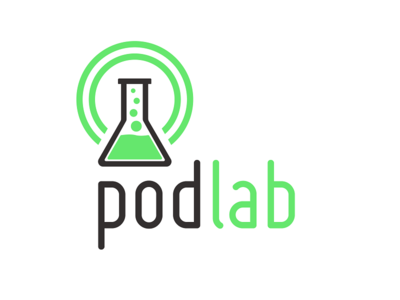 Pod Lab startup podcast mark logo