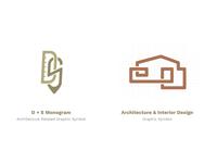 D+S Monogram + Architecture Graphic Symbol