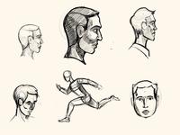 Head Anatomy Sketch Exercise + Body Movement
