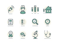 Medical Lab Custom Icon Set