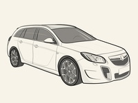 Opel Insignia OPC Vector Illustration iPad