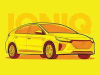 Hyundai Ioniq - Hot Color Scheme