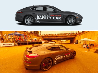 Overdrive Drag Cup 2015 - Safety Car Branding